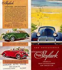 Old Print.  1939 Hupmobile Skylark - Car Ad