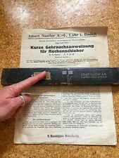 """Rechenschieber Albert Nestler D.R. Patent """"Rietz"""" No 23R/3 D.R.G.M. - m. Anleitg"""