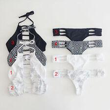 2Pcs Womens Push-Up Bikini Set Bandeau Ladies Bandage Swimwear Swimsuit Bathing