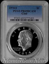 1974-S Clad Eisenhower Dollar PCGS PR69DCAM