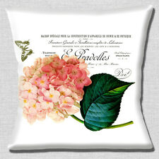 """FRENCH SHABBY CHIC VINTAGE HYDRANGEA BUTTERFLY POST 16"""" Pillow Cushion Cover"""