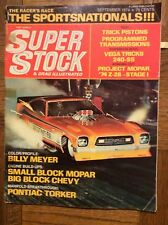 Sept 1974 Super Stock & Drag Illustrated Snake AHRA Snow Z-28 Camaro Meyer Wiebe