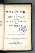 SUMMA APOLOGETICA DE ECCLESIA CATHOLICA#Inst. Librarium Pridem G. J. Manz. 1892
