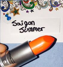 100% Authentic Mac Saigon summer lipstick (orange) New Without Box