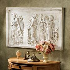Magnificent Classical Greek Ecstasy of Dance Muses Wall Sculpture Frieze NEW