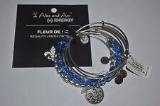 Alex and Ani Rafaelian Silver Fleur de Lis Set of 5 Bracelets NWT