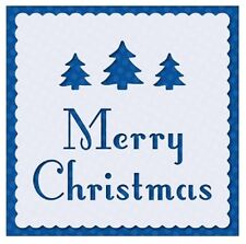 Flexible Stencil *MERRY CHRISTMAS* Trees, Embossing Card Making - 9.5cm x 9.5cm