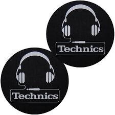 Slipmats Technics Casque/écouteur Noir/Blanc/Dragon blanc yeux bleus 1 Paire/1