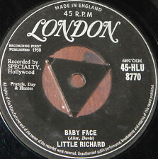 "LITTLE RICHARD ~ BABY FACE b/w I'LL NEVER LET YOU GO ~ UK TRI LONDON 7"" SINGLE"
