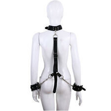 Sexy Bondage BDSM HandCuffs Wrist Ankle Neck Collar Chain Restraints Adult Toys