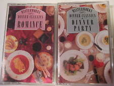 Lot of 2 Original Vintage Pack Masterworks Dinner Classics Sony Cassettes