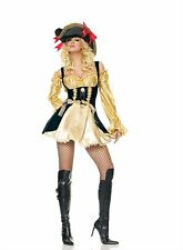 Women's Gold Pirate Costume M Marauder's Wench Renaissance Cosplay Roleplay