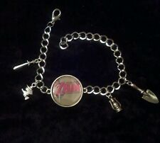 Silver Plated Charm Bracelet With Charms Legend of Zelda Link to the Past