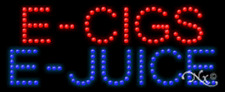 "NEW ""E-CIGS E-JUICE"" 27x11 SOLID/ANIMATED LED SIGN w/CUSTOM OPTIONS 21390"