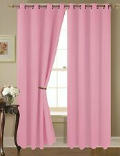 Empire Amber Solid Thermal Blackout Grommet Window Curtain Panel Extra Wide 54""