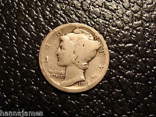 Rare Genuine 1916-D Mercury Dime Vg We Combine On Shipping
