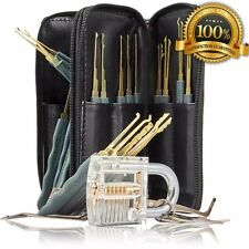 24 Pieces Lock Tools with Transparent Pad Lock with two keys for training GOSO