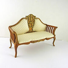 Dollhouse Miniature Beautiful Art Deco Style Settee, Sofa, 10008WN