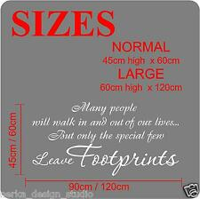 Wall Quotes But Only The Special Few Leave Footprints WALL DECAL STICKERS N108