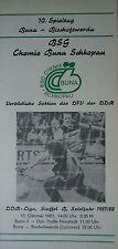 Programma 1987/88 BSG Chemie Buna Schkopau-Bischofswerda