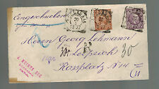 1897 Java Netherlands Indies Cover to Leipzich Holland Red Wax Seals
