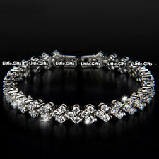 Crystal tennis bracelet Bangle Rhinestone Unusual Rare Gift For her Girl Women