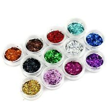 Hot Sale Nail Art 3D Rhombus Sequins Acrylic Glitter Shape Powder Set 12 Colors