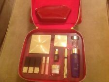 Estee Lauder Red Train Case With Cosmetic- NIB