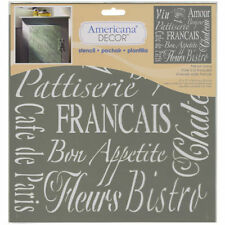 French Living, American Decor Stencil, 12 x 12, #ADS05