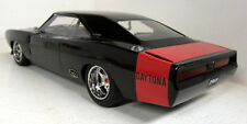 Greenlight 1/18 Scale Custom 1969 Dodge Charger Daytona Black / red model car