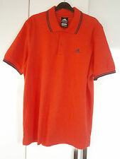 Mens ADIDAS POLO TOP ORANGE ESSENTIALS RANGE Clima 365 size Large VGC