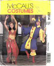 2814 Jester Belly Dancer Sewing Pattern Pattern Adult Small Medium MCCALLS UNCUT