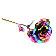 Multi-Color Plated Floral Rose Flower Valentine's Day Women Friend Lover Gift