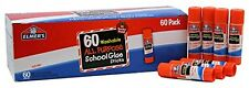 60 Glue Sticks Pens Washable All Purpose School Homework Office Supplies New