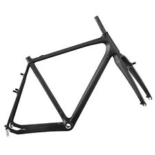 ICAN Full Carbon Cyclocross Bike Frame 57cm BSA Cantilever Brake + Fork
