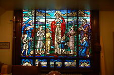 "+ Stained Glass Window #10 of 16, ""Jesus Blesses Children""+ ""J.R. Lamb Studios"""