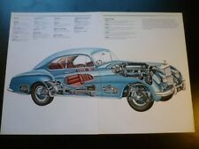 1952 Bentley R Continental Car Cut Away Drawing POSTER detailed 1988 italy print