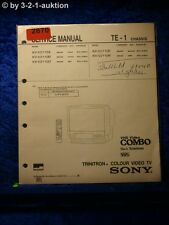 Sony Service Manual KV V2110D /B /A VHS Video Combo Color TV (#2870)