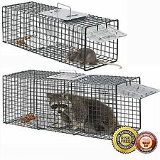 "Raccoon Skunk Poss Humane Animal Trap 31""x12""x12"" Cage Rabbit Cat Live Rodent VP"