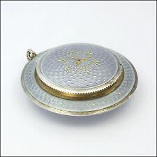 SWISS circa 1900 ARGENTO SMALTO Compact Ciondolo-FBE Ginevra