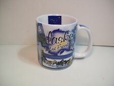 "ALASKA COFFEE MUG ""the Last Frontier"" Denali-Mt McKinley Wildlife MOOSE Eagle"