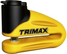 Trimax T665LY Hardened Metal Disc Lock Motorcycle Security New Free Shipping USA