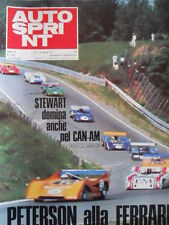 Autosprint n°33-34 1971 Ronnie Peterson Ferrari - Stewart Domina Can-AM  [P47]
