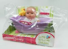 Lots to Love Babies 10 inch All-Vinyl Baby Doll in Bathtub, NEW & MINT!!