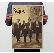 retro nostalgic The Beatles Art Kraft paper Poster wall decal 20x14 inch