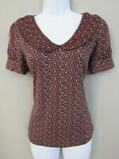 Urban Ourfitters Pins And Needles Size S Cotton Floral Peter Pan Collar New