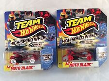 Team Hot Wheels HWTF 2012 MOTO BLADE - HTF Red and White Wheels Variations
