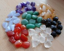 WHOLESALE TUMBLESTONES - 70 SMALL/MED STONES 10mm-14mm - CRYSTAL GIFTS/CRAFTS