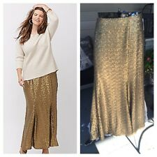 NWOT Lane Bryant Long Sequin Skirt Sz 22 Party,Formal,Mother of Bride,Holiday