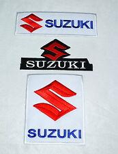 Suzuki,3Pcs.,Aufnäher,Aufbügler,GSXR,Bandit,Intruder,Hayabusa,SV,Racing,RM